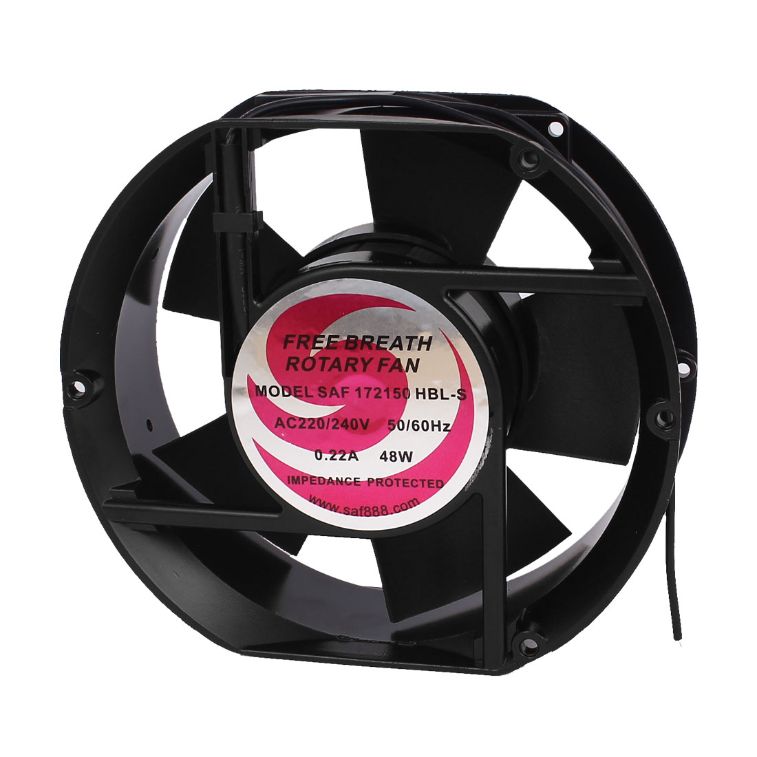 AC 220-240V 0.22A Oval Shaped Ball Bearing Axial Cooling Fan 17 x 15 x 5.1cm