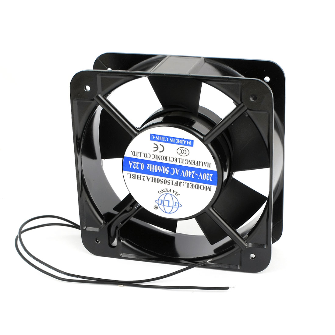 AC 220-240V 0.22A Ball Bearing Axial Cooling Fan 15cm x 15cm x 5.2cm