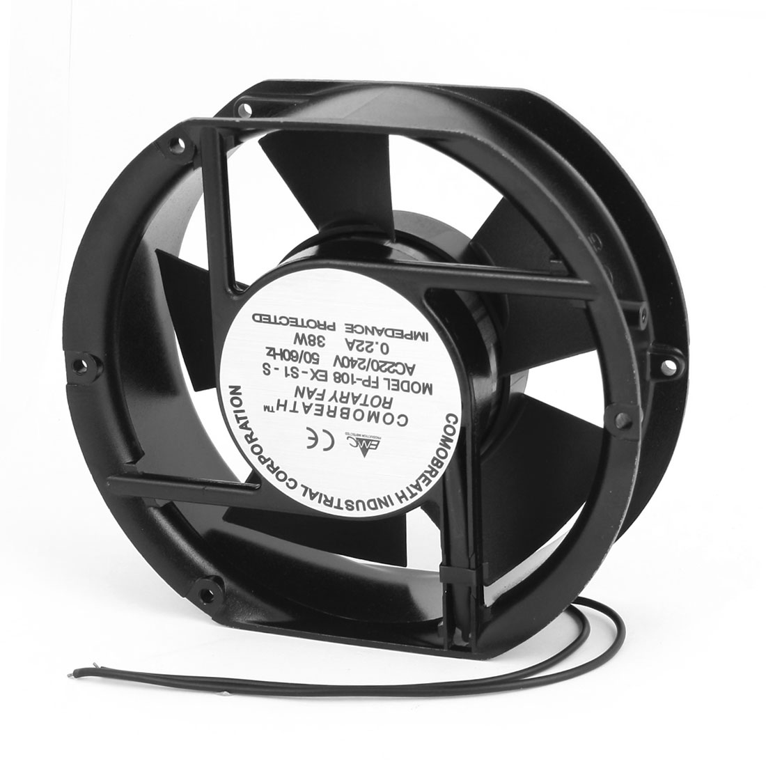 AC 220-240V 0.22A Oval Sleeve Bearing Axial Cooling Fan 17 x 15 x 5.2cm