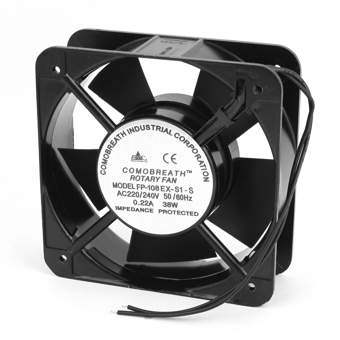 AC 220-240V 0.22A Sleeve Bearing Axial Cooling Fan 15cm x 15cm x 5cm