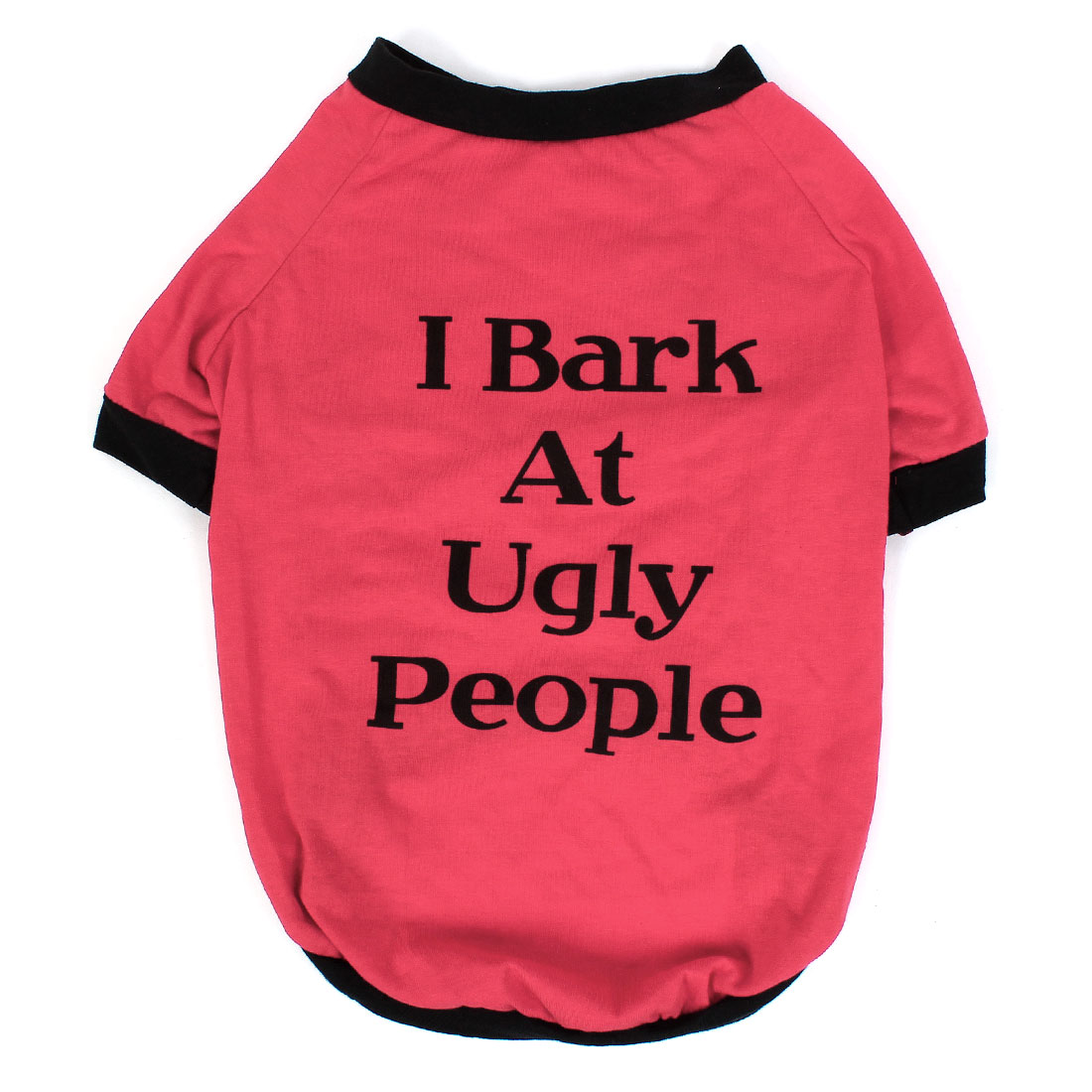 English Characters Pattern Pet Dog Puppy Sleeved T Shirt Clothes Apparel Red Black Size XL