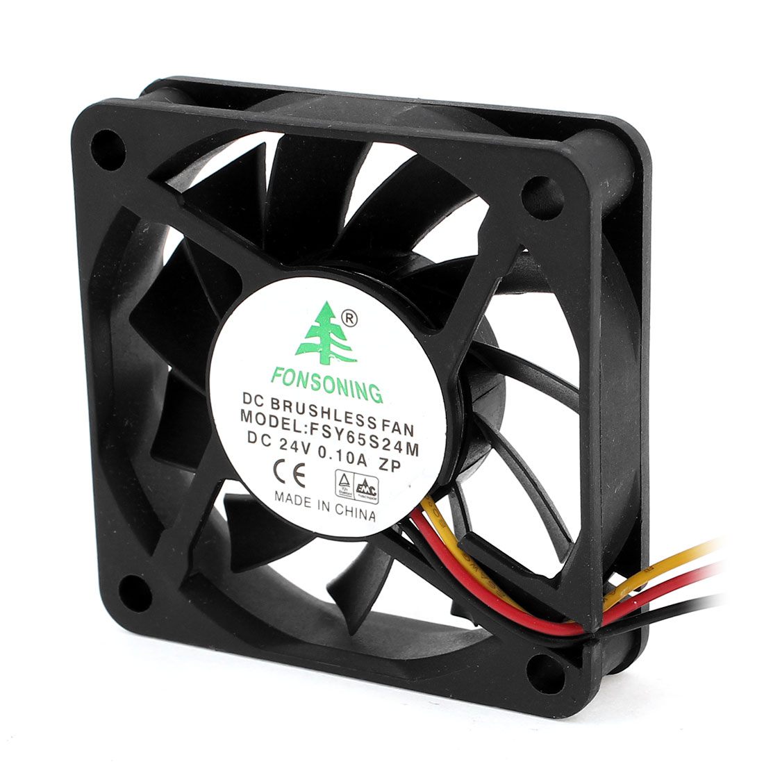 DC 24V 0.1A 60mmx15mm 3 Pin Cooling Fan Black for PC Computer Cases CPU Cooler