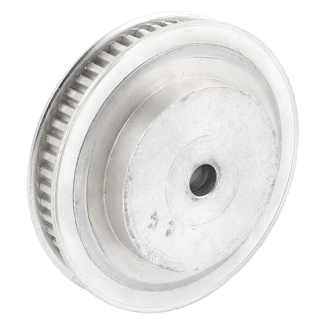 10mm Bore 11mm Width 55-Tooth Flanged Timing Belt Pulley for Stepper Motor