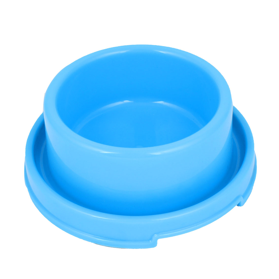 18cm Diameter 7cm Height Doggie Dog Pet Plastic Eat Food Water Bowl Dish Blue