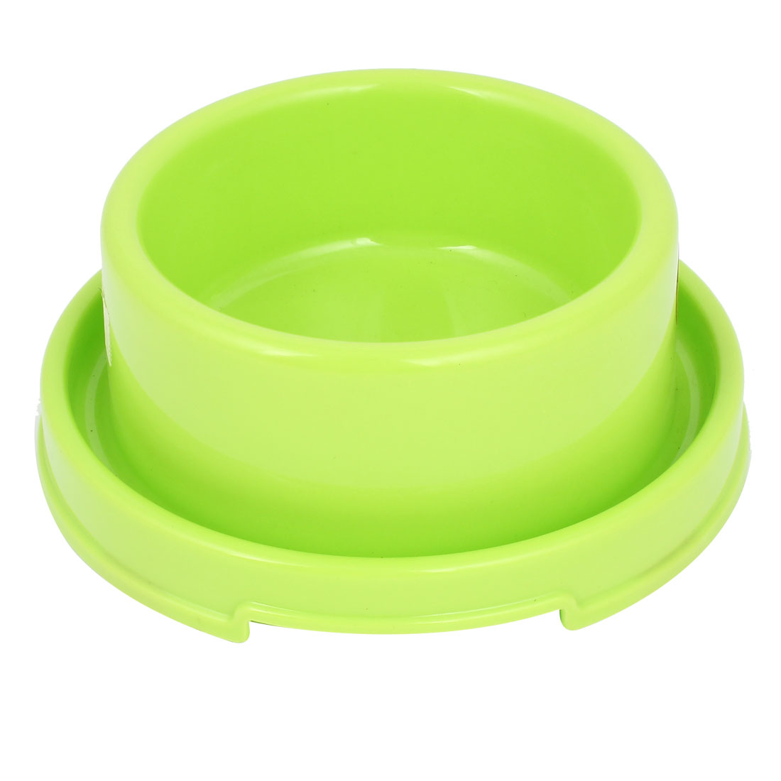 18cm Diameter 7cm Height Doggie Dog Pet Plastic Eat Food Water Bowl Dish Green