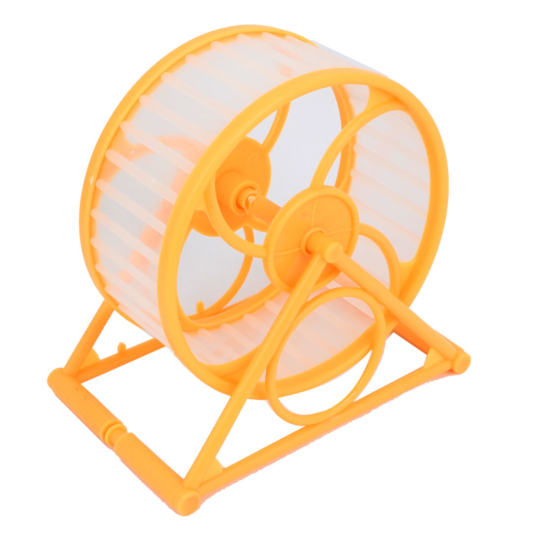 Pair 12.5cm Dia Orange Plastic Rotary Exercise Running Wheel for Pet Hamster Mouse