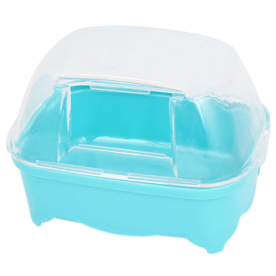 Clear Blue Hard Plastic Hamsters Gerbil Bathing House Sand Cage Pet Bathroom
