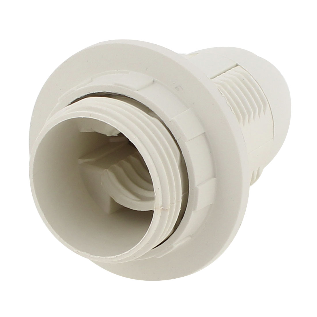 White E14 Bulb Base Holder Screw Lamp Socket Adapter AC 110V-220V
