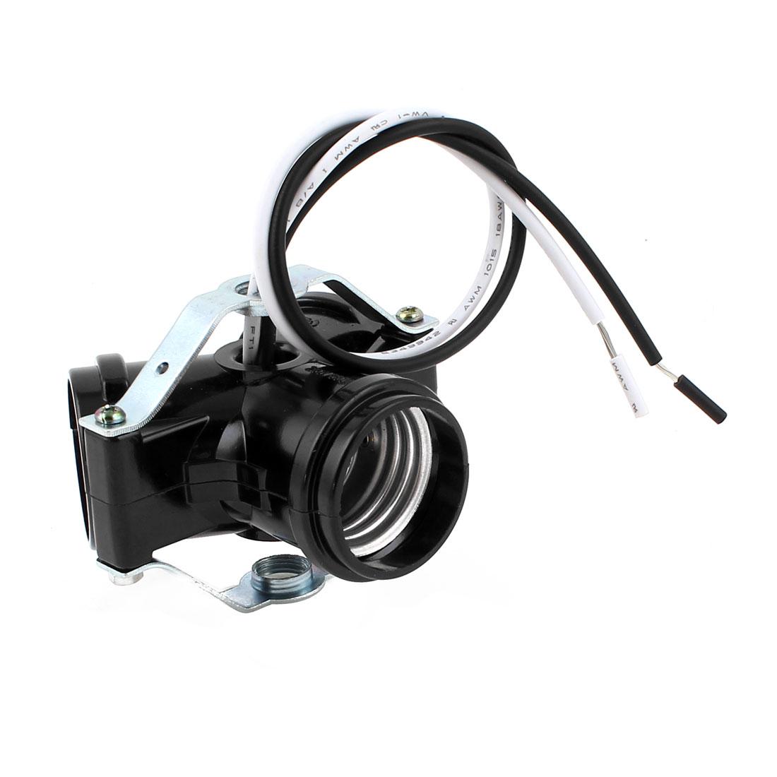 Wired 3 Way E27 Bulb Base Screw Lamp Holder Socket Converter