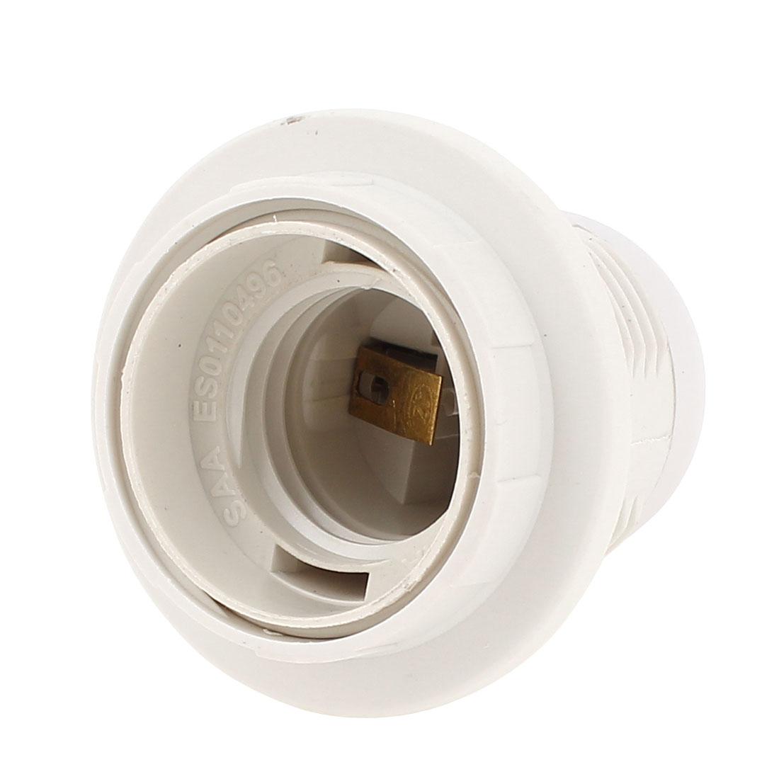 Plastic E27 Bulb Light Base Screw Lamp Holder Socket Adapter