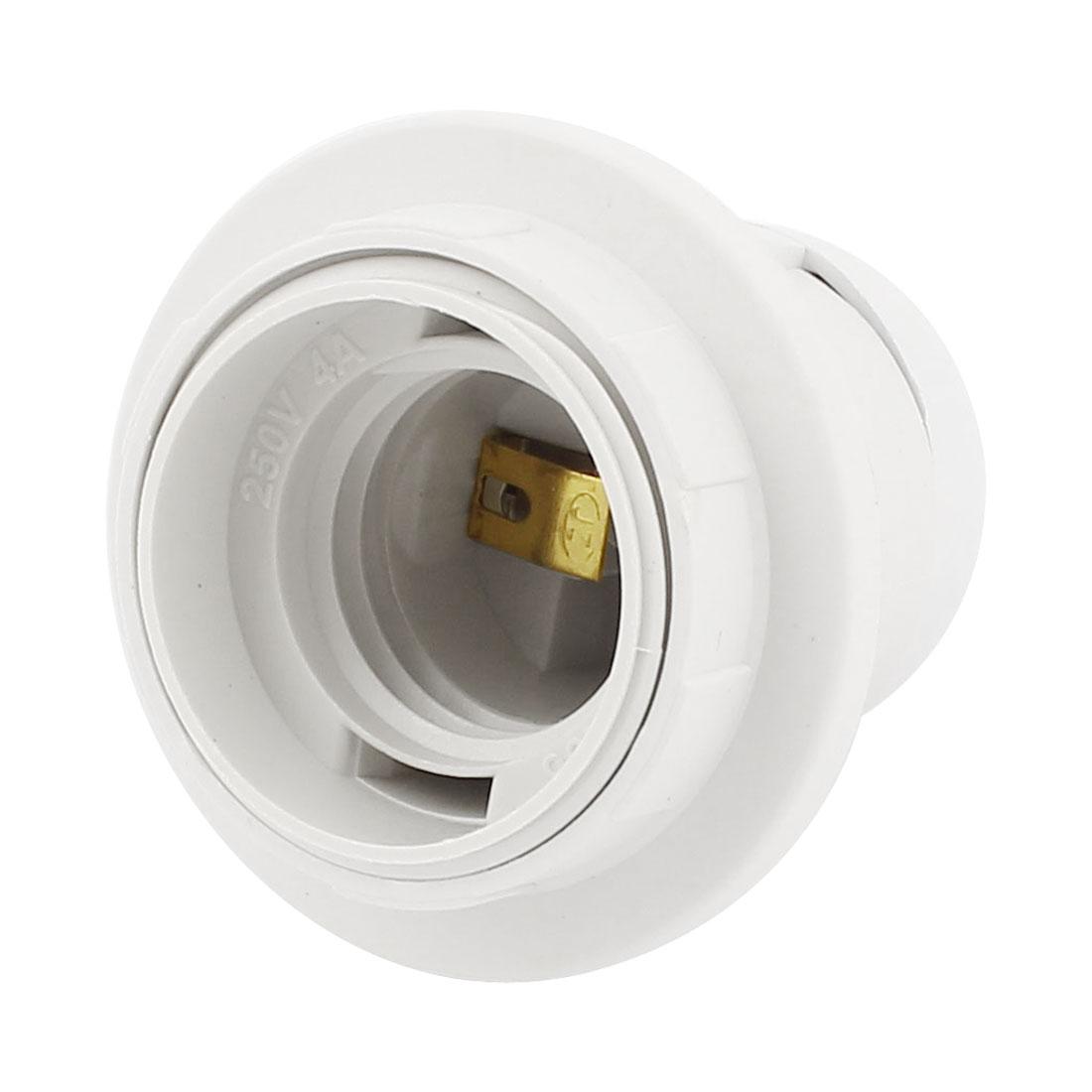 E27 Bulb Base Holders Light Plastic Thread Lamp Socket Fitting AC 110V-220V
