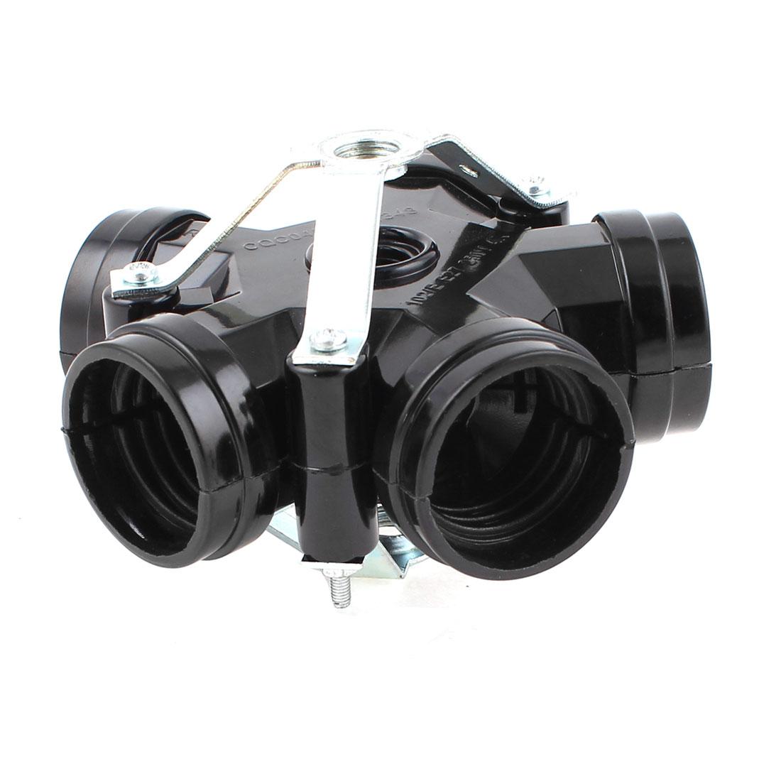 AC250V Plastic 5 Way E27 Bulb Base Screw Lamp Holder Socket Converter