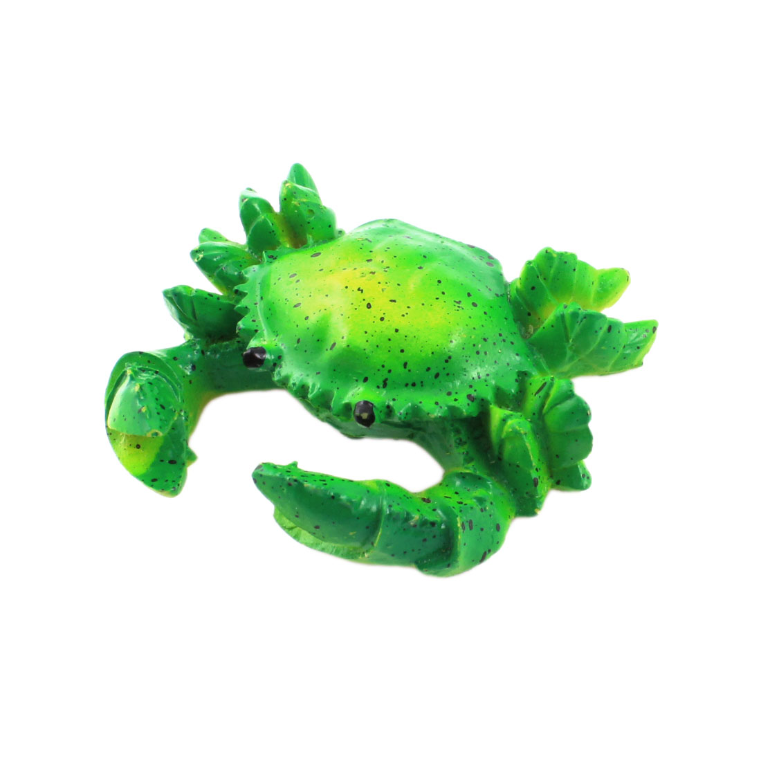 Fish Tank Aquarium Green Artificial Crab Granchio Decoration 6cm Width
