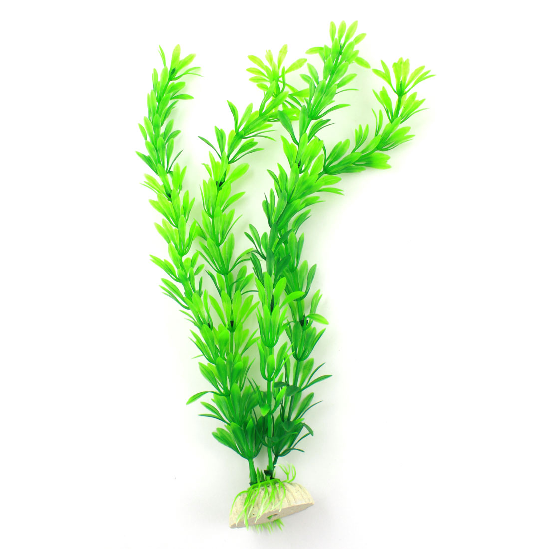 "Fish Tank Aquarium Green Plastic 12"" High Artificial Aquatic Plants Decor"