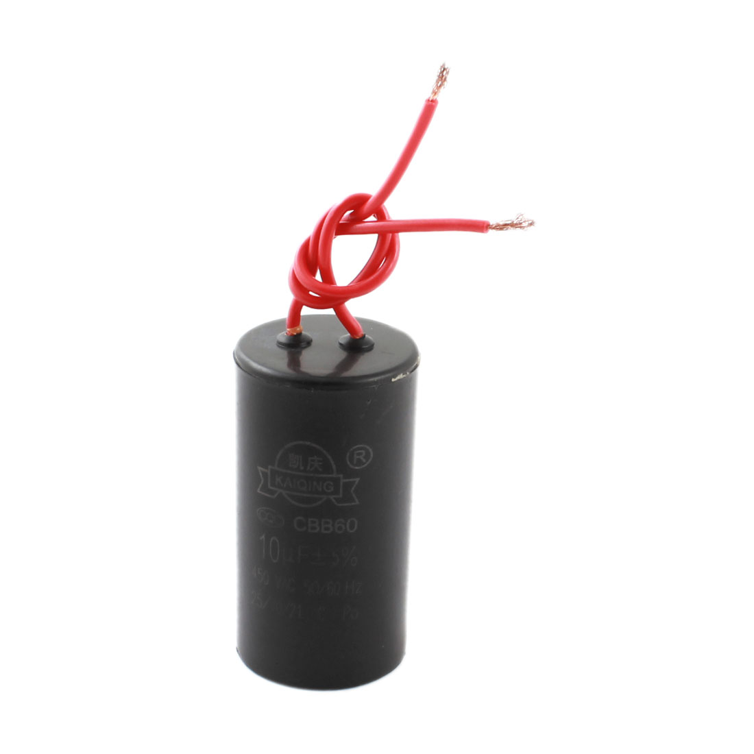 AC 450V 10uF CBB60 Type Wired Polypropylene Film Motor Run Capacitor for Washers