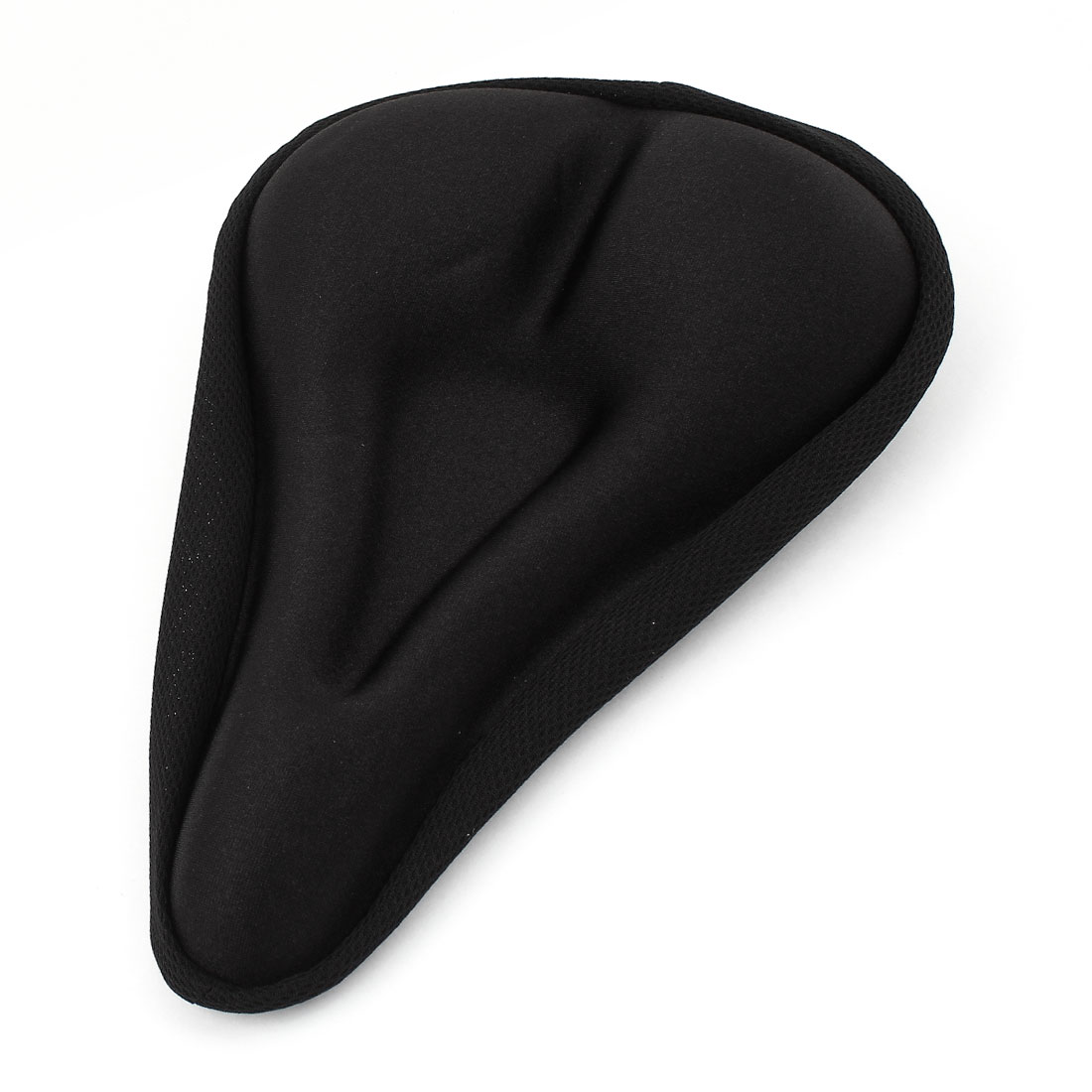 Bicycle Bike Soft Gel Middle Hollow Saddle Seat Antislip Cover Cushion Pad Black