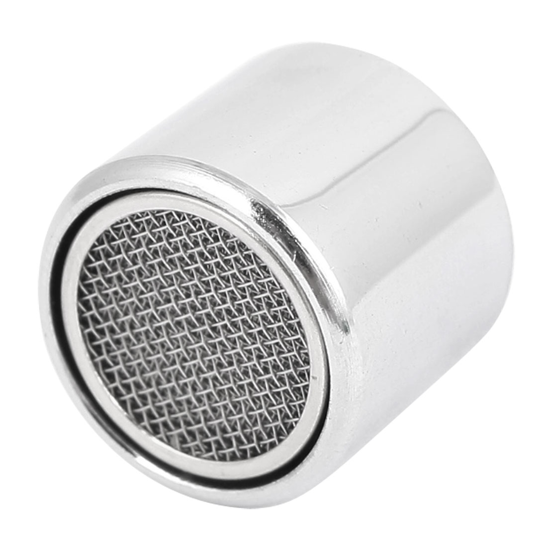 17mm Female Thread Silver Tone Water Saving Faucet Tap Filtering Net Spout Aerator Nozzle w Seal Gasket