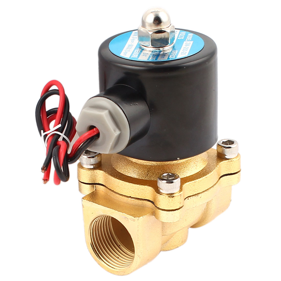 "2W-200-20 Direct Acting DC 12V 1"" Female Thread 2 Way 2 Position Solenoid Water Valve"