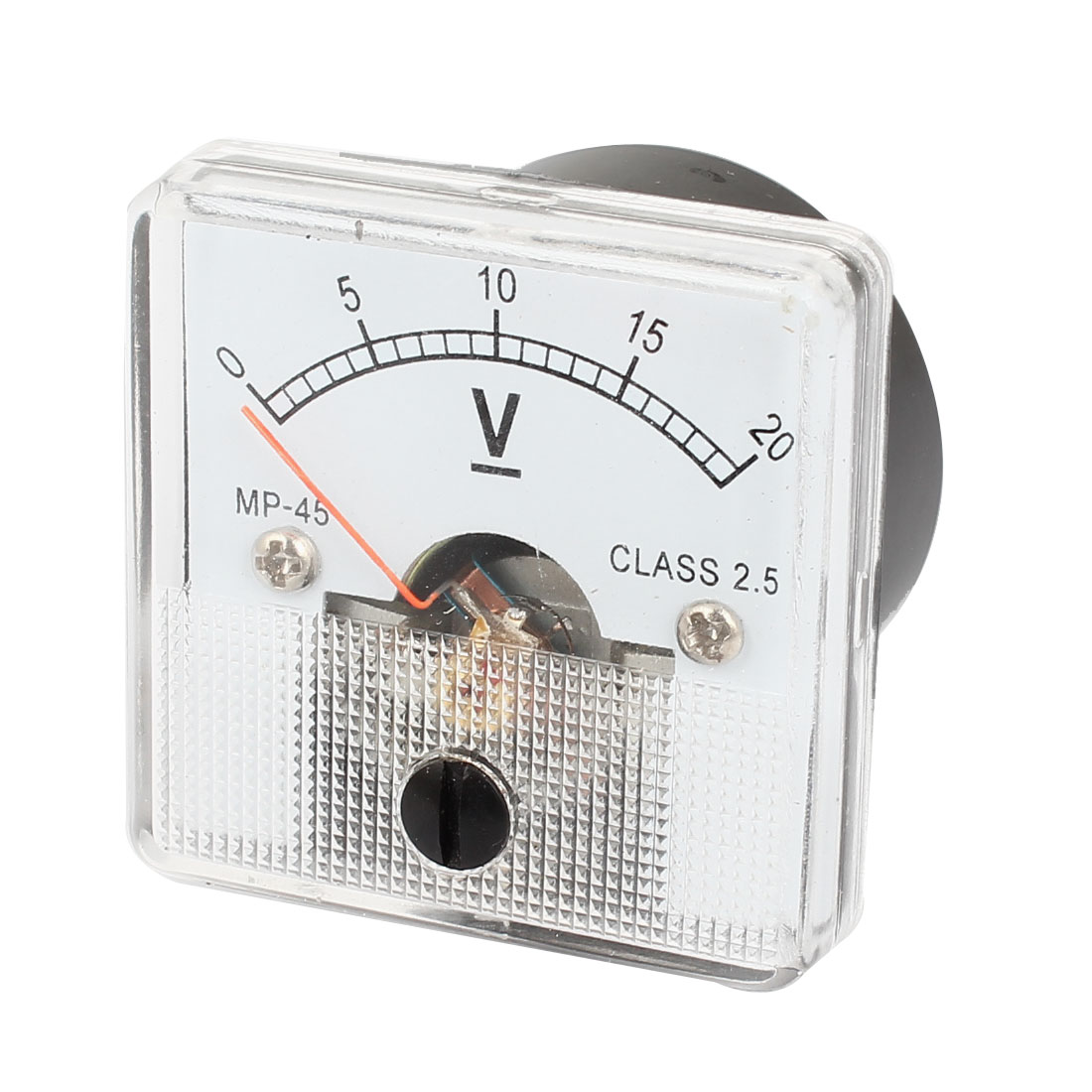 MP-45 DC 0-20V Class 2.5 Accuracy Fine Tuning Analog Voltage Meter Voltmeter