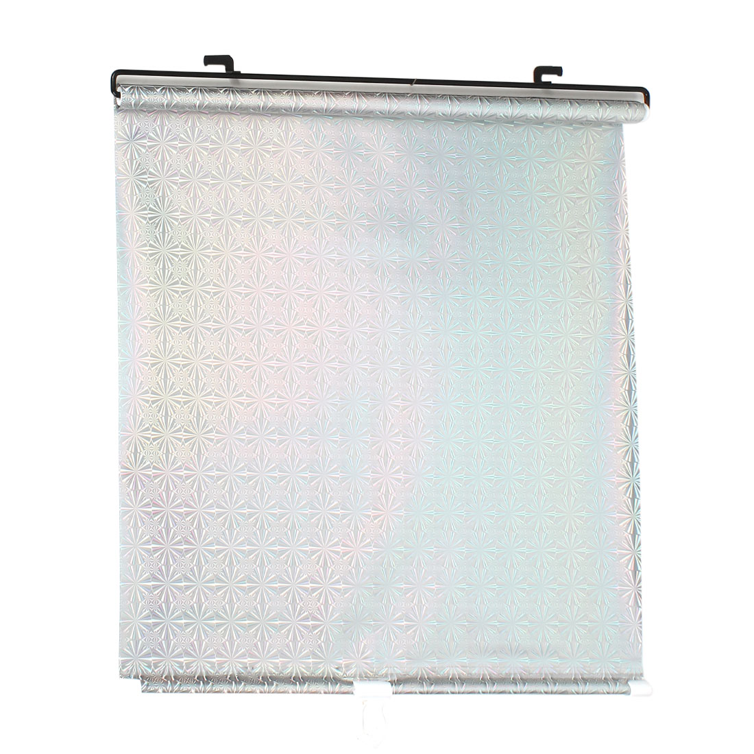 Auto Retractable Roll Up Side Window Sun Shade 125cm x 45cm Silver Tone
