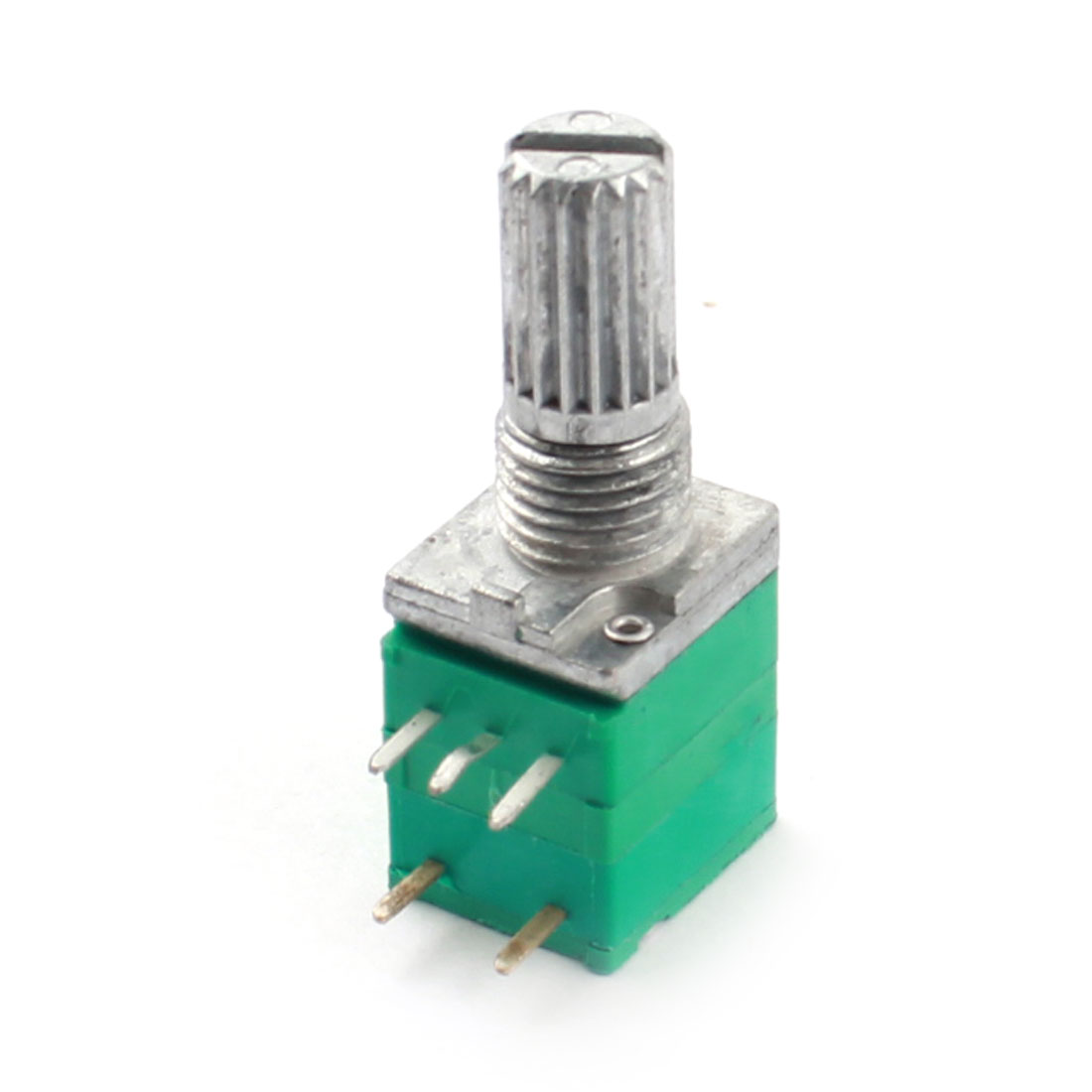 50K Ohm 7mm Dia Thread 6mm Knurled Shaft 5-Pin Through Hole Mount Linear Rotary Adjustable Taper Potentiometer Switch