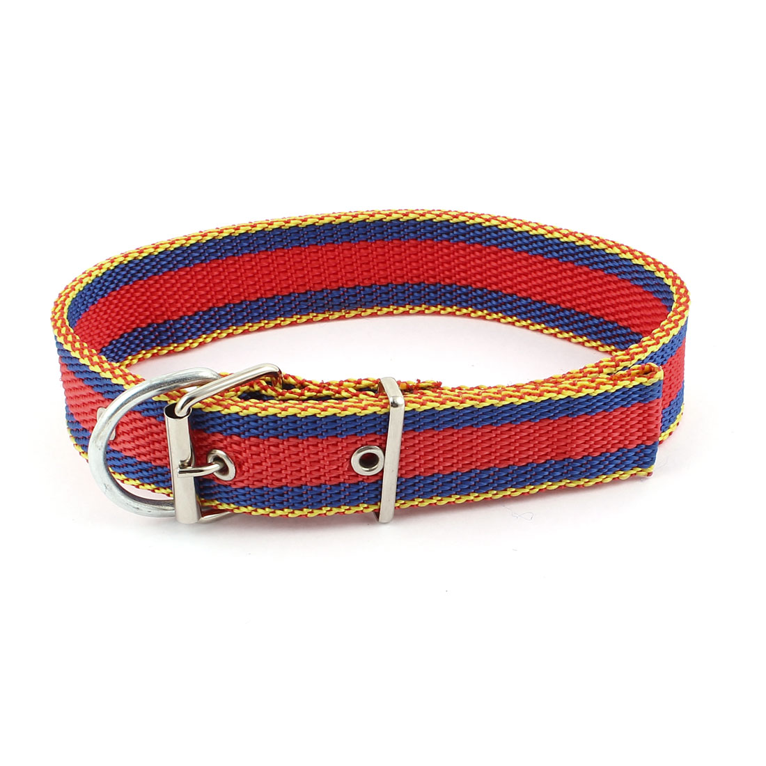 Single Pin Buckle Adjustable Belt Pet Dog Doggy Collar Necklace Red Blue