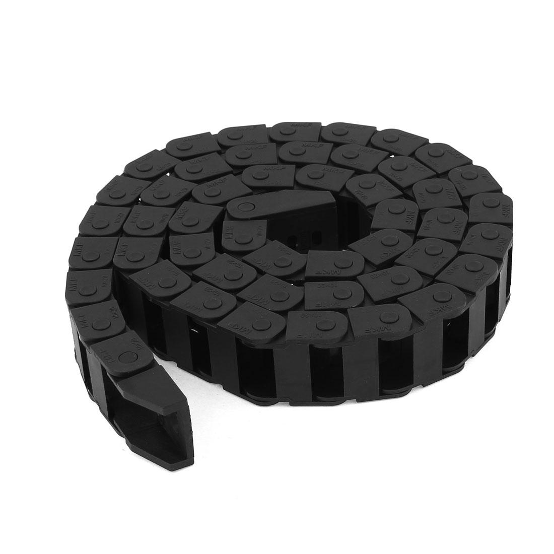 105cm Long Machine Plastic Towline Drag Chain Black 10mm x 20mm
