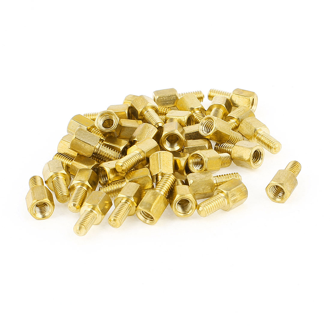 39Pcs M3x6mm Machine Boards Hexagonal Threaded Spacer Gold Tone