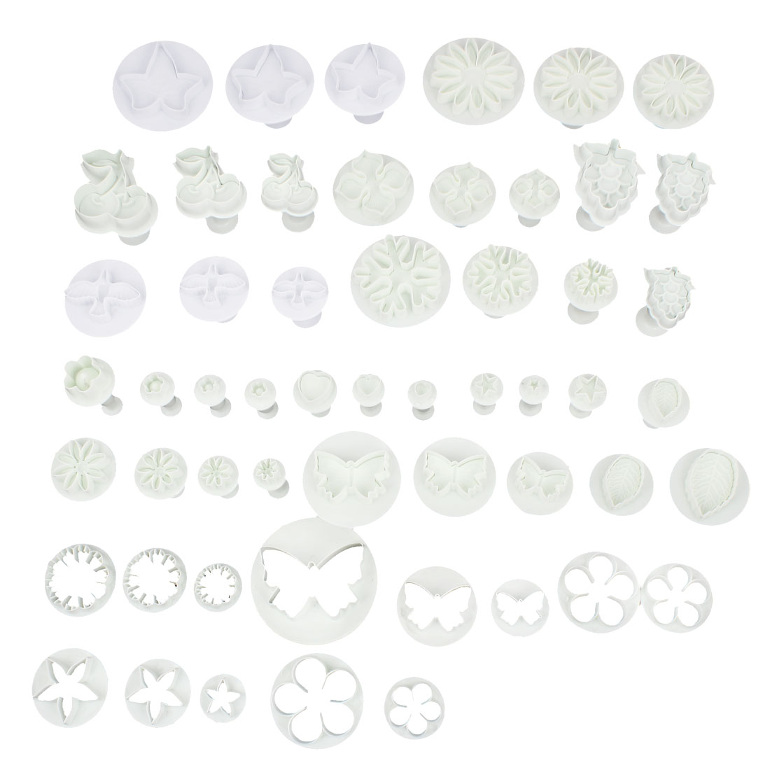 Fondant Cake Cookie Flower Decorating Plunger Cutter Mold Icing DIY Tool 70 in 1