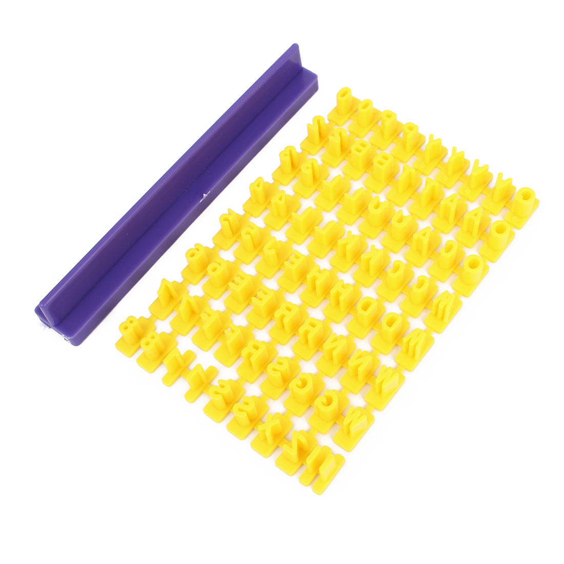 Number Letter Cookie Biscuit Stamp Cutter Embosser Cake Mold Purple Yellow