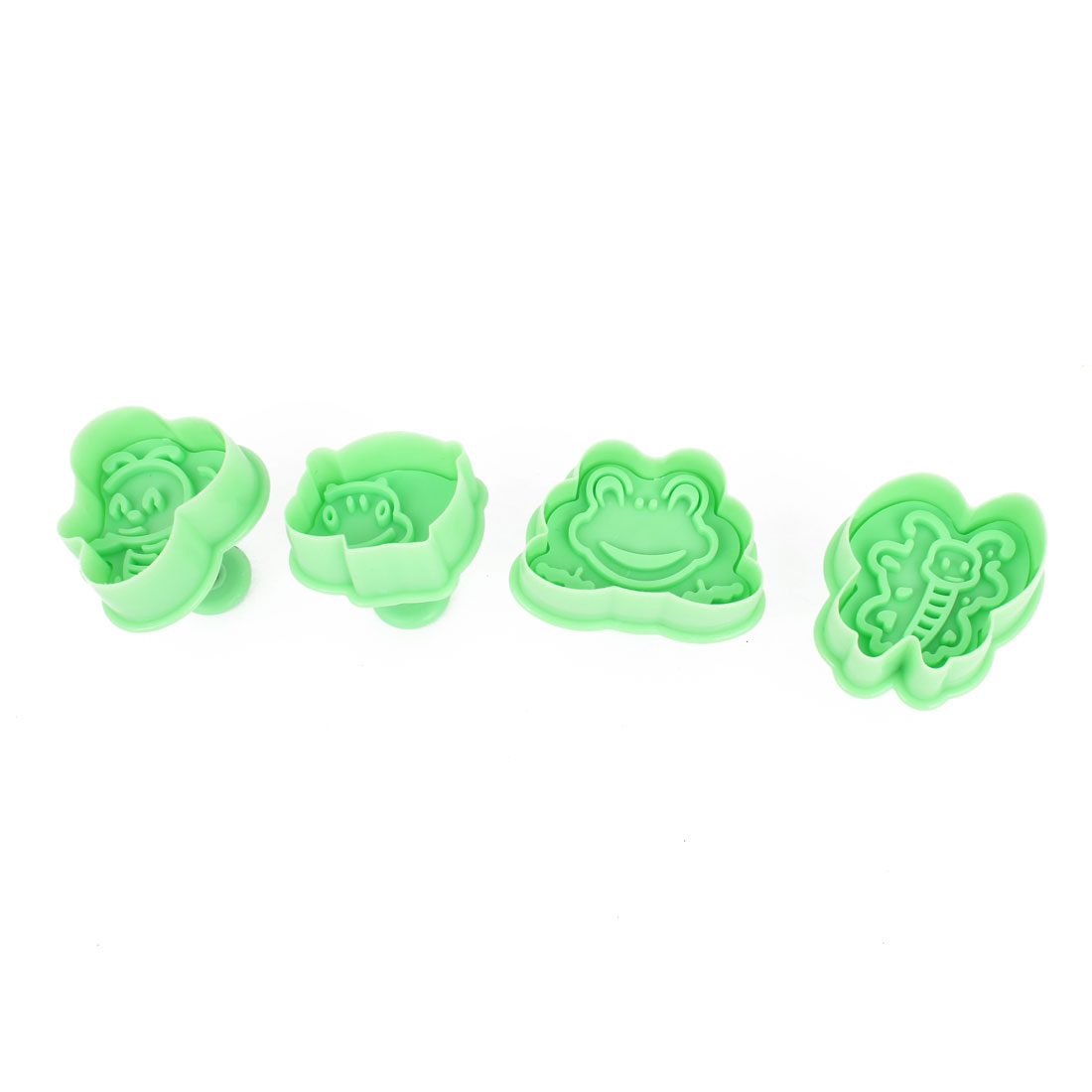 Green Bee Frog Design Cake Sugarcraft Mold Plunger Stamping Cutter Tool 4 Pcs
