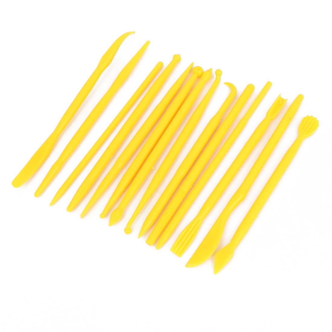 Yellow Fondant Gum Paste Cake Decorating Flower Modeling Tools 14 in 1 Set