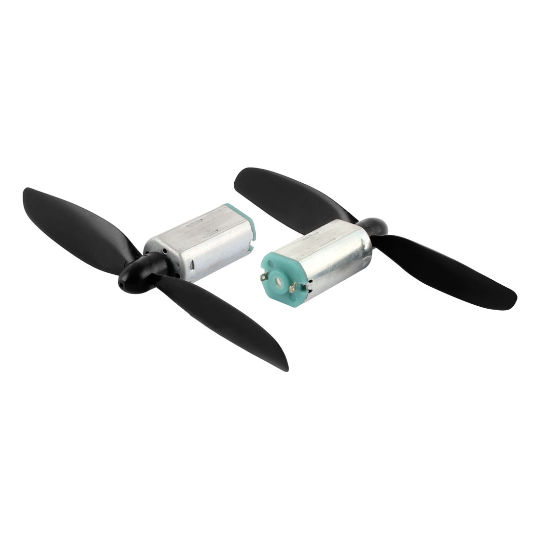 2Pcs RC Quadcopter Mini Glider DC3.7V 23800RPM Micro Motor w 2-vane Propeller