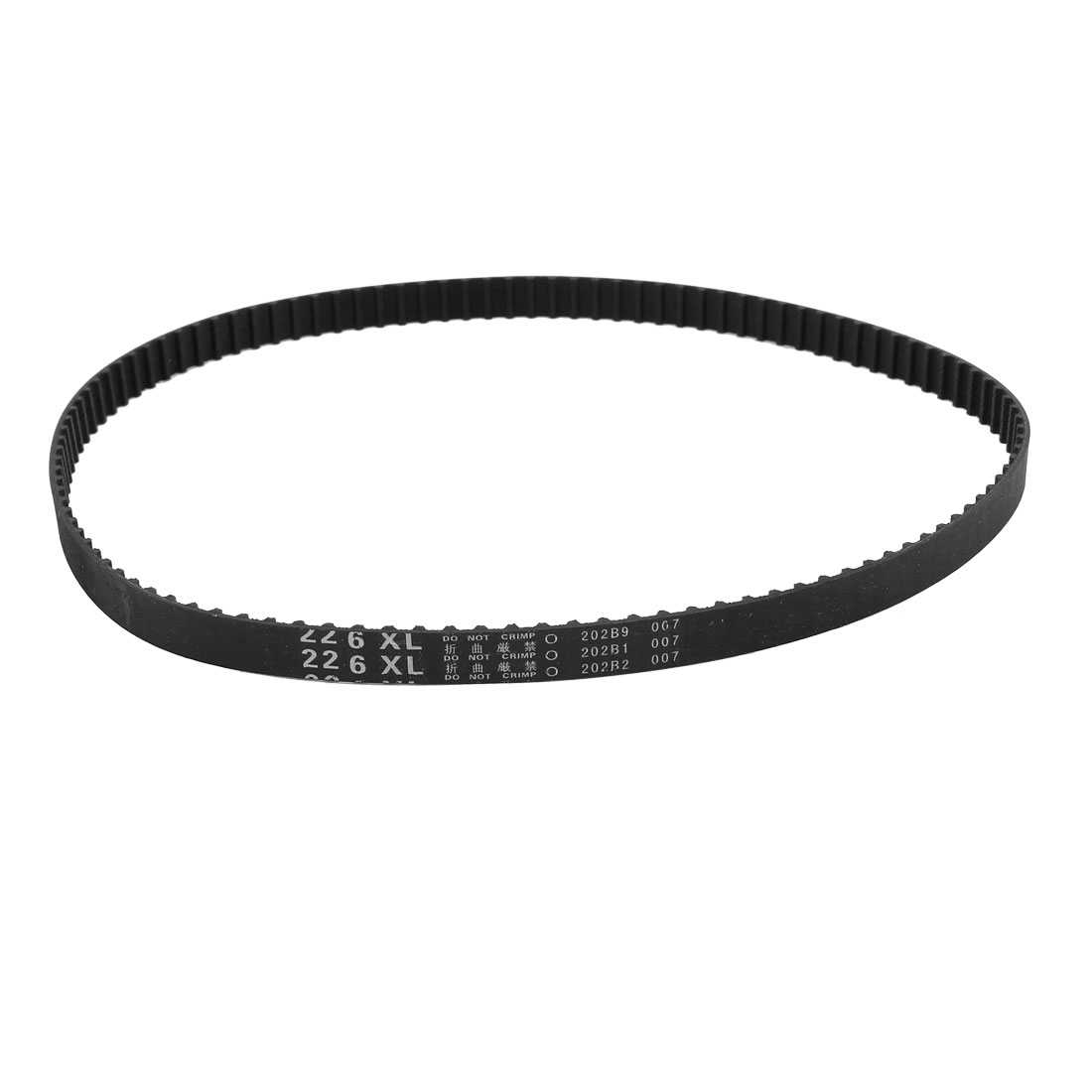"226XL 22.6"" Girth 5.08mm Pitch 113-Teeth Black Rubber Industrial Synchro Machine Synchronous Timing Belt"