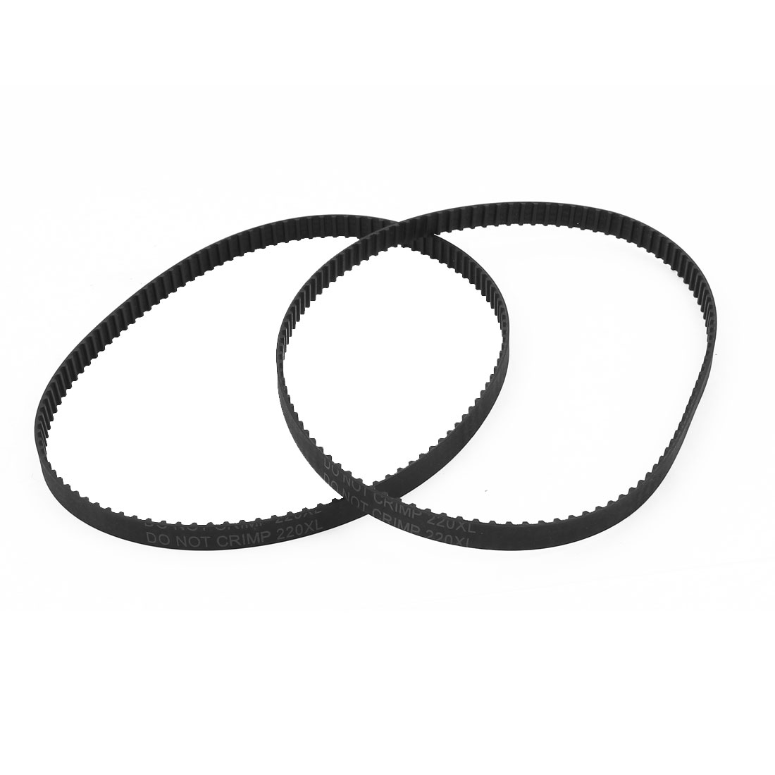 "2Pcs 220XL 22"" Girth 5.08mm Pitch 110-Teeth Black Rubber Industrial Synchro Machine Synchronous Timing Belt"