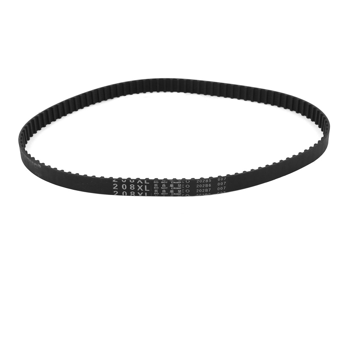 "208XL 20.8"" Girth 5.08mm Pitch 104-Teeth Black Rubber Industrial Synchro Machine Synchronous Timing Belt"