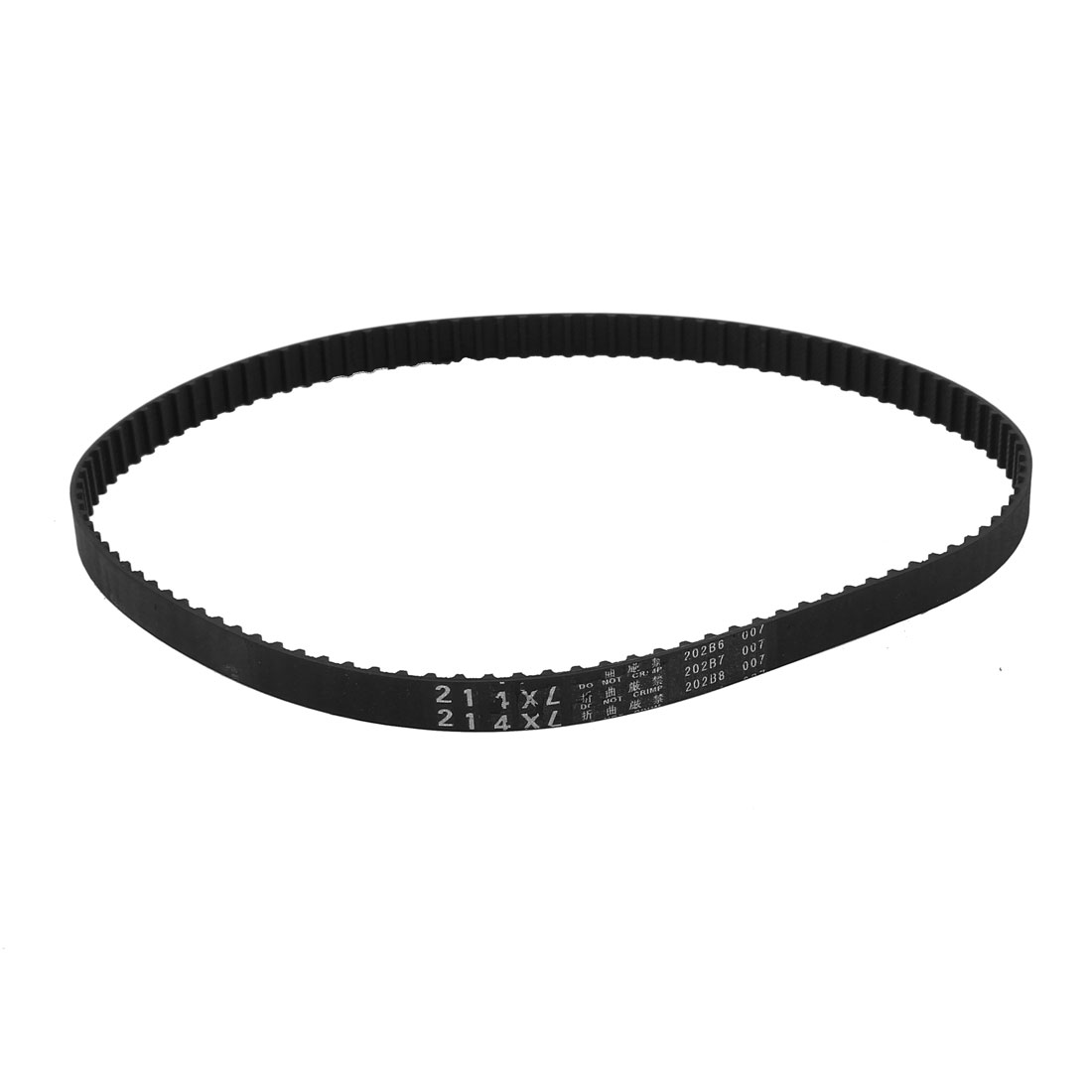 "214XL 21.4"" Girth 5.08mm Pitch 107-Teeth Black Rubber Industrial Synchro Machine Synchronous Timing Belt"