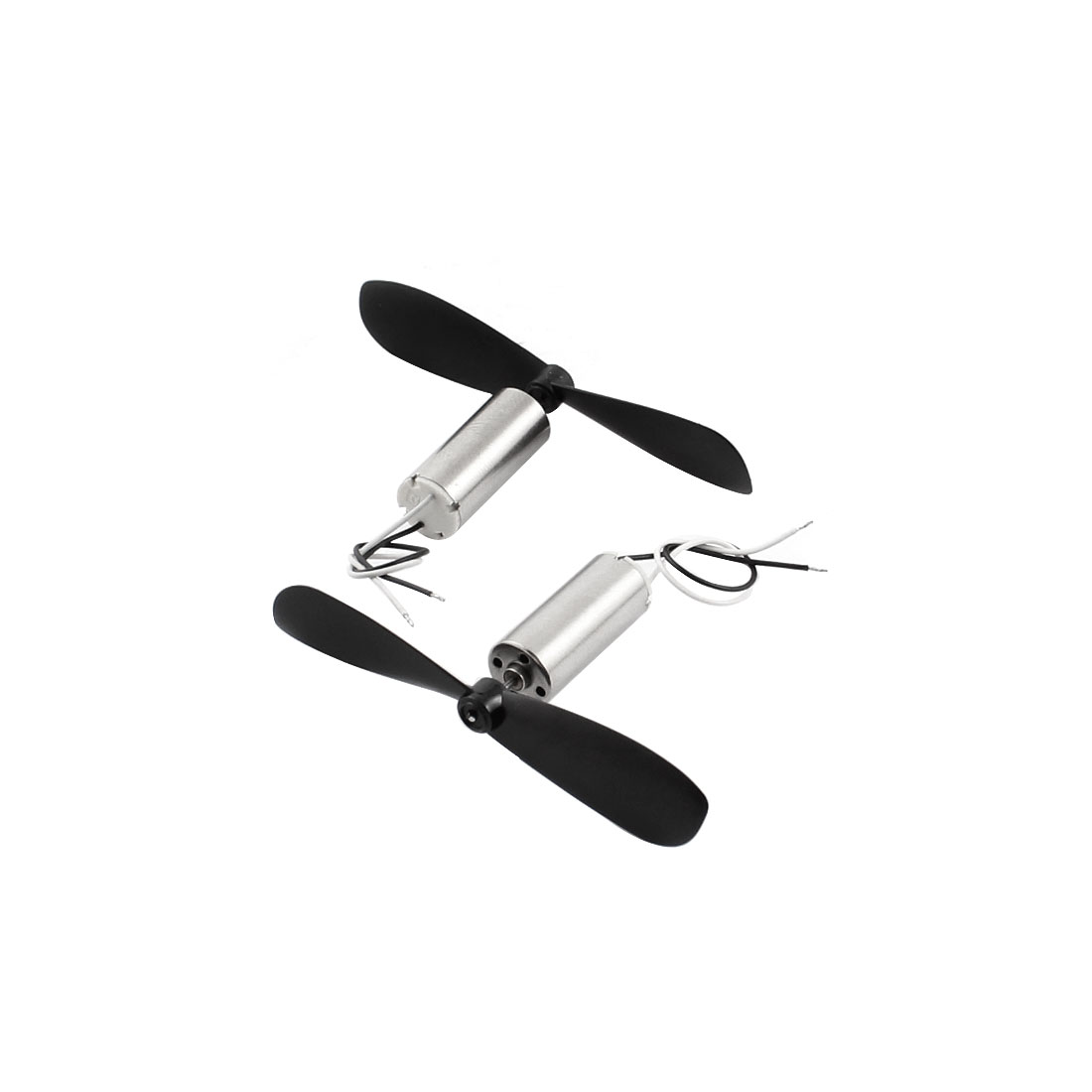 2Pcs RC Quadcopter Mini Glider DC3.7V 40000RPM Coreless Micro Motor w 2-vane Propeller