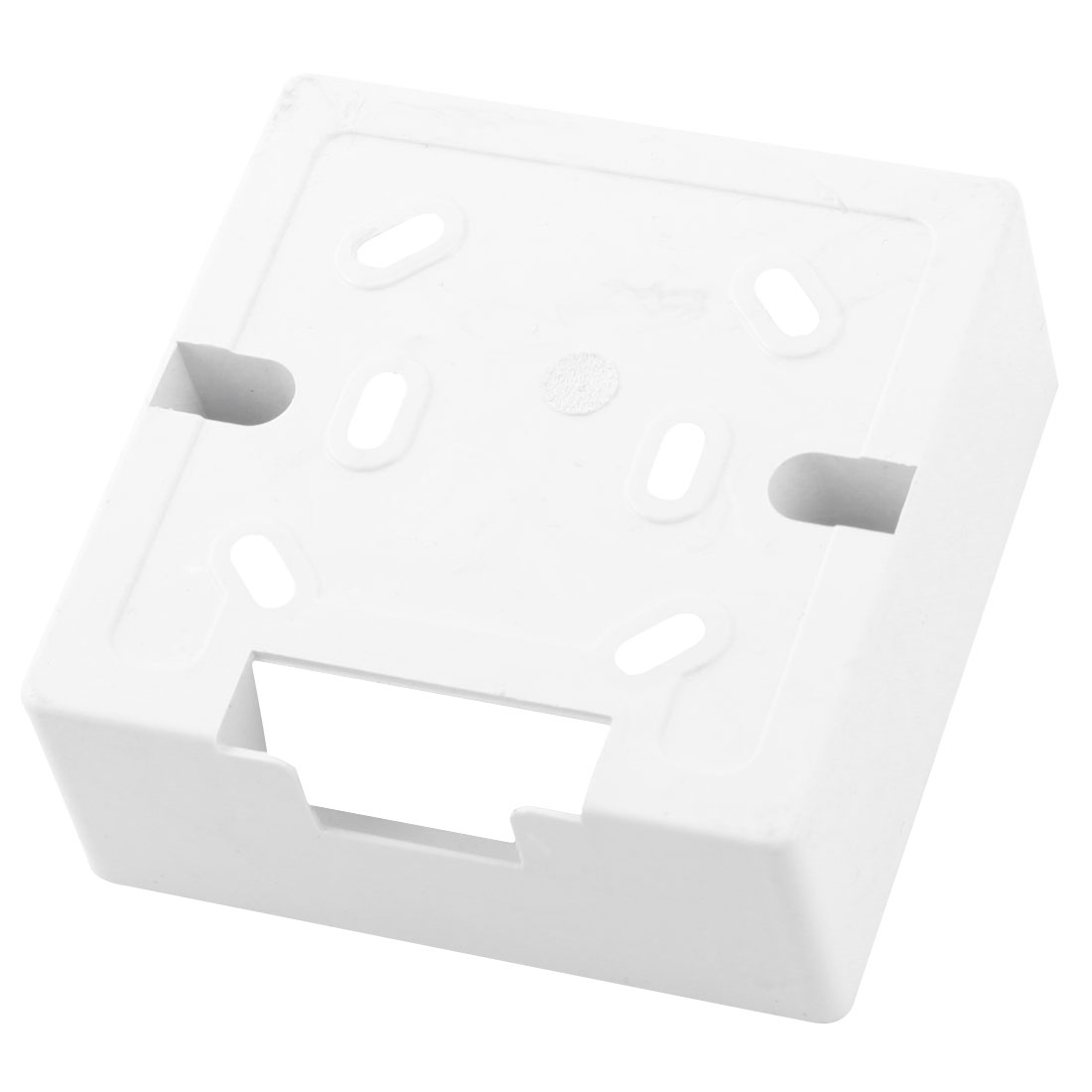 86mmx86mmx34mm Square White Plastic Mount Back Box for Wall Socket