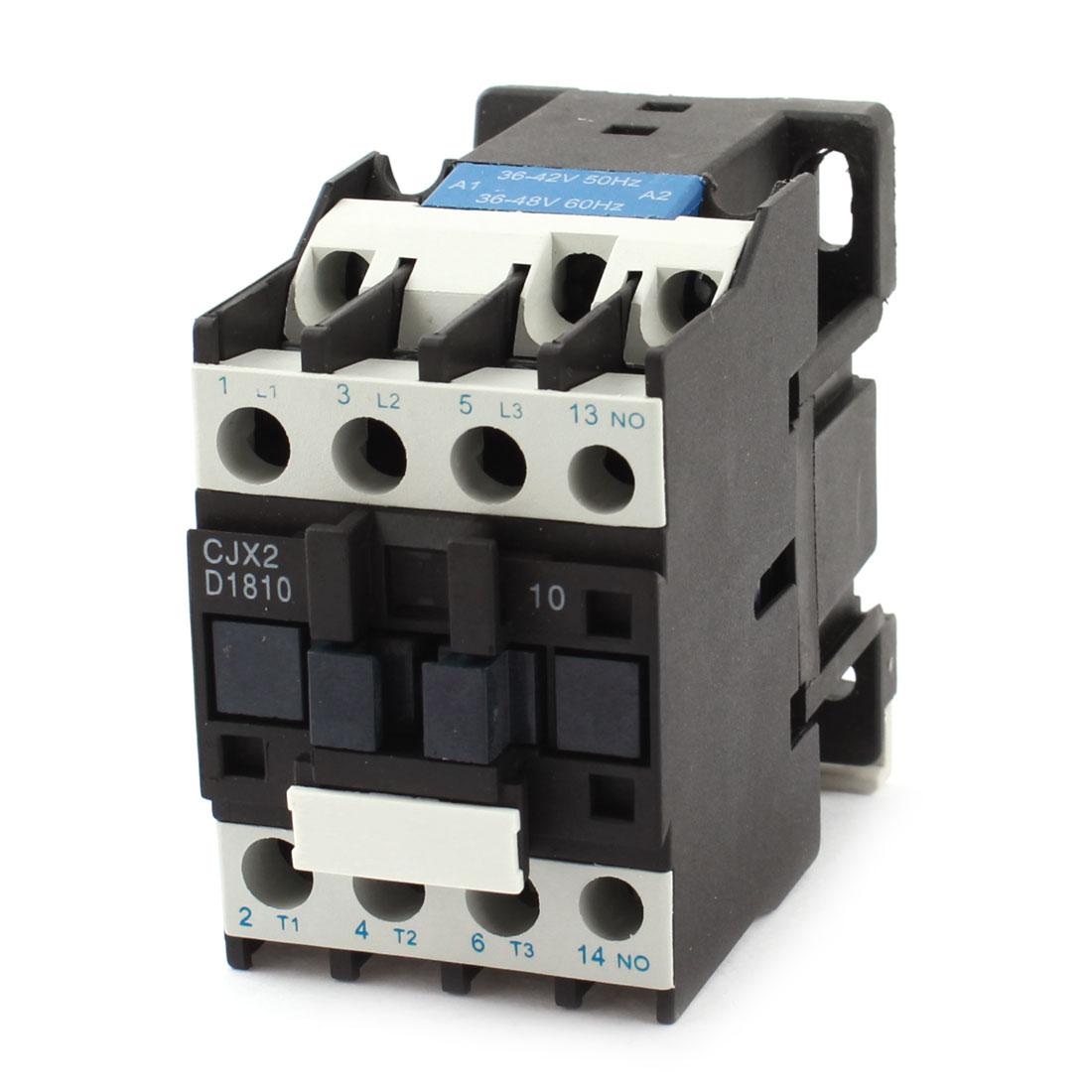 CJX2-1810 Air Condition General Purpose AC36-42V AC36-48V Coil 32A 3P+NO AC Contactor