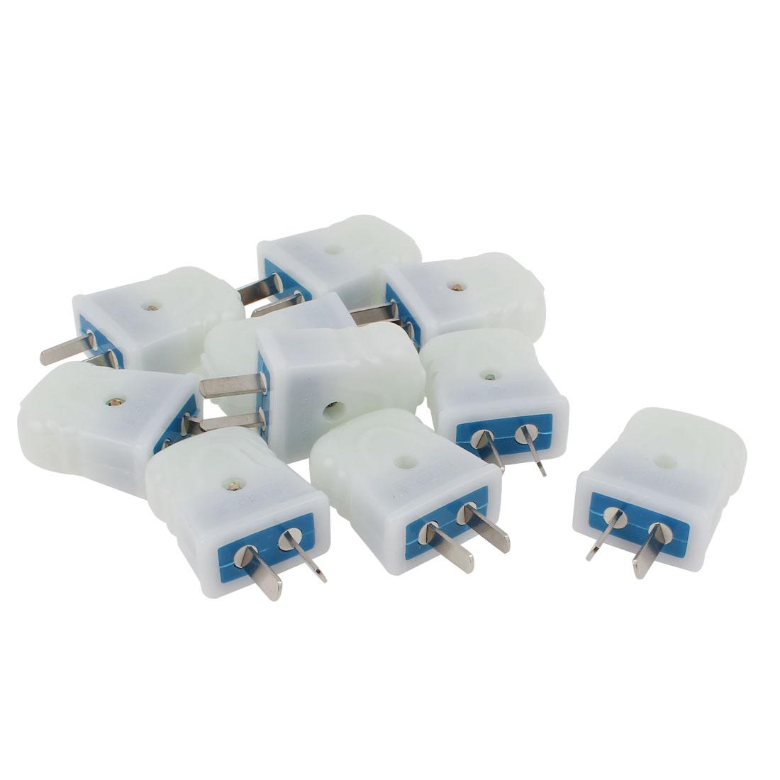 10pcs US AU Rotation Plug Rewirable Power Cable Connector AC 250V 16A