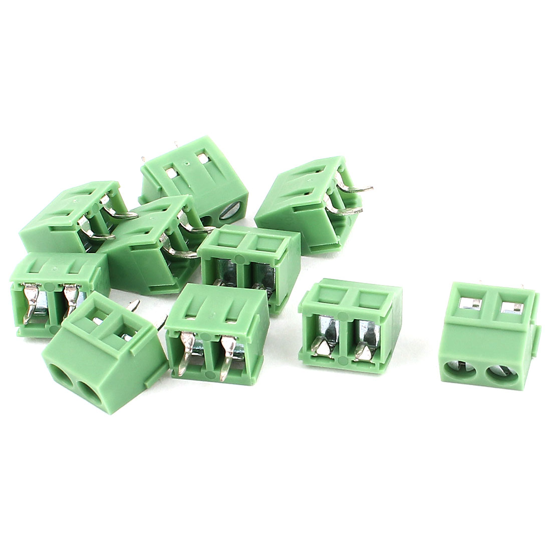 10Pcs 5.5mm Pitch PCB Screw Terminal Blocks Connectors 300V/10A