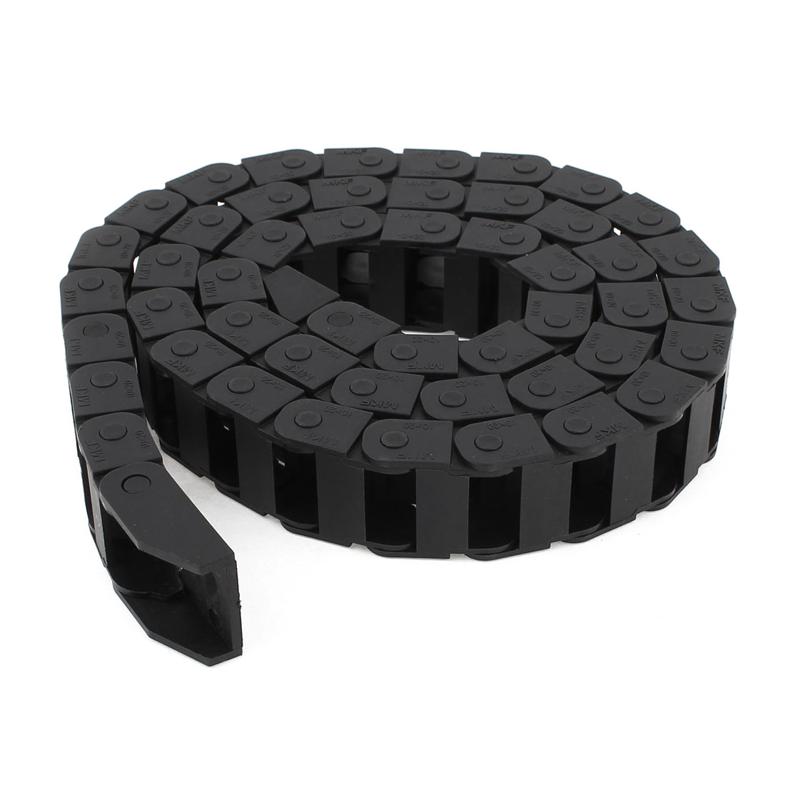 Plastic Towline Cable Carrier Drag Chain Connector 10x20mm 106cm Long