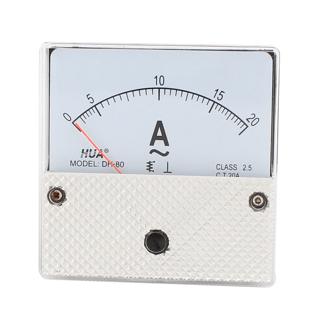 80mm x 80mm Square AC 0-20A Analog Panel Meter Ammeter DH80