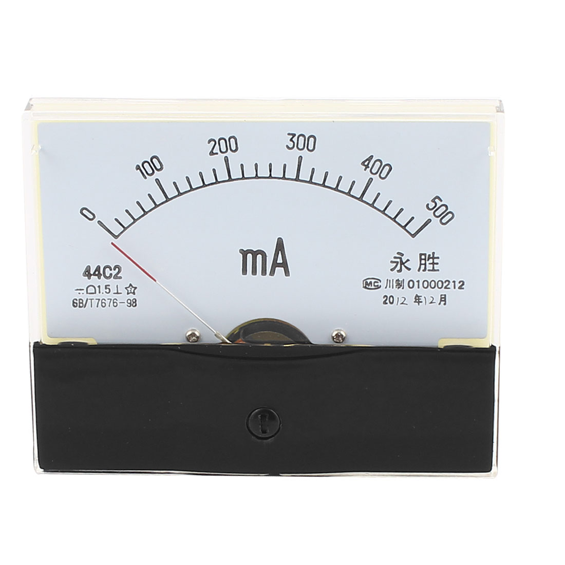 Class 1.5 Accuracy DC0-500mA Dial Analog Panel Meter Gauge 44C2