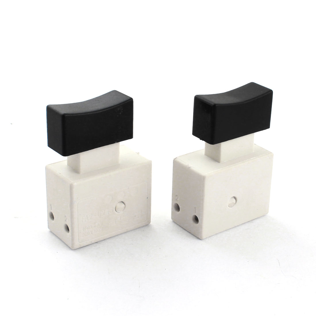 2 Pcs FA2-4/2W5 DPST 2NO Momentary Action Trigger Switch for Electric Drill