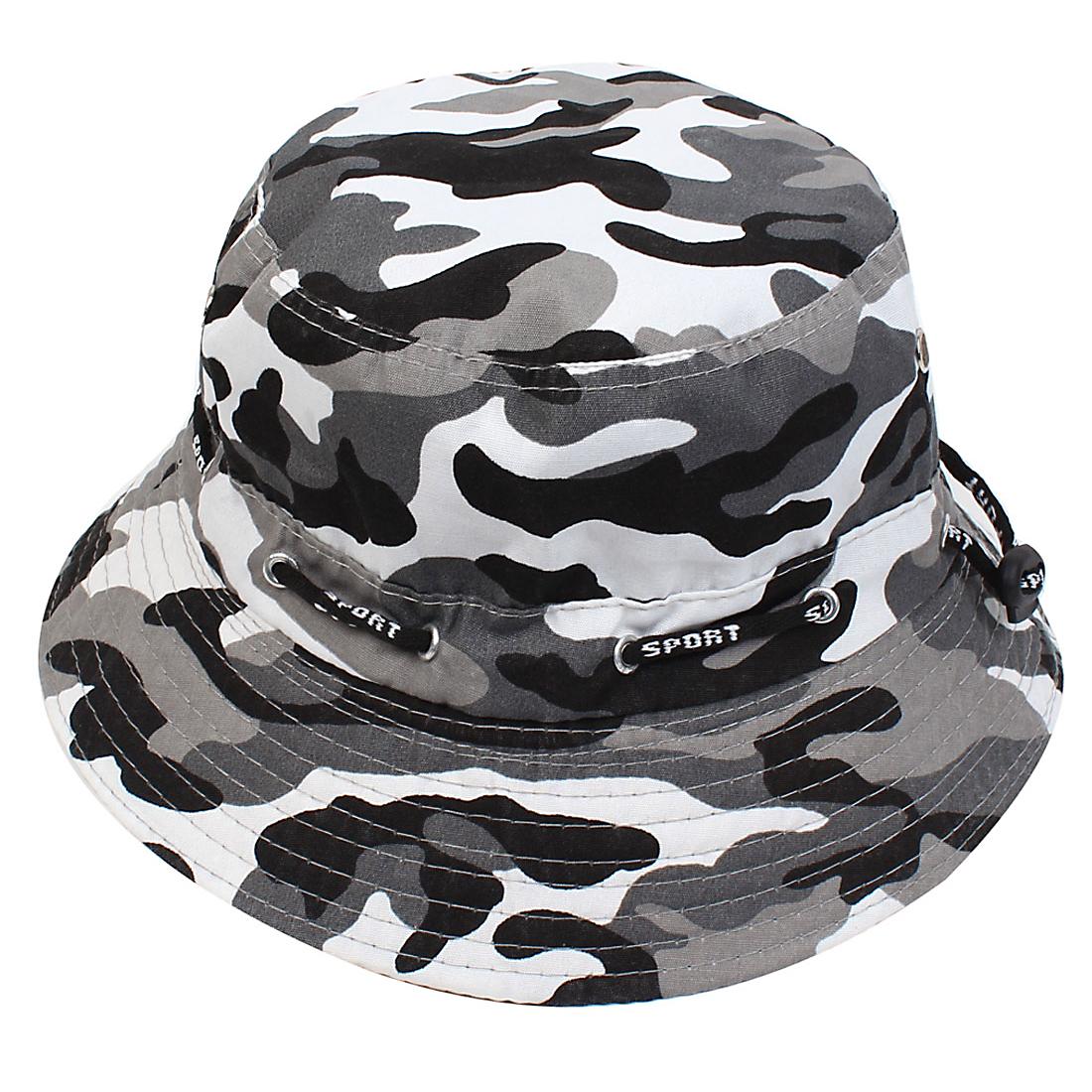 Sand Beach Casual Round Brim Sun Visor Camouflage Hat Cap for Unisex