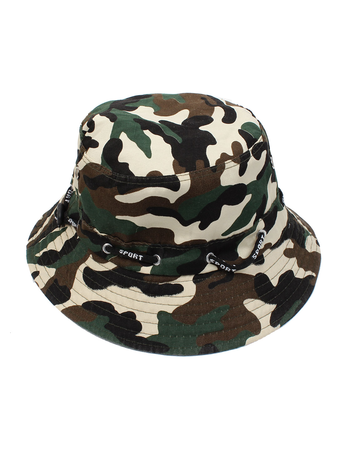 Sand Beach Round Brim Sun Visor Camouflage Hat Cap for Unisex