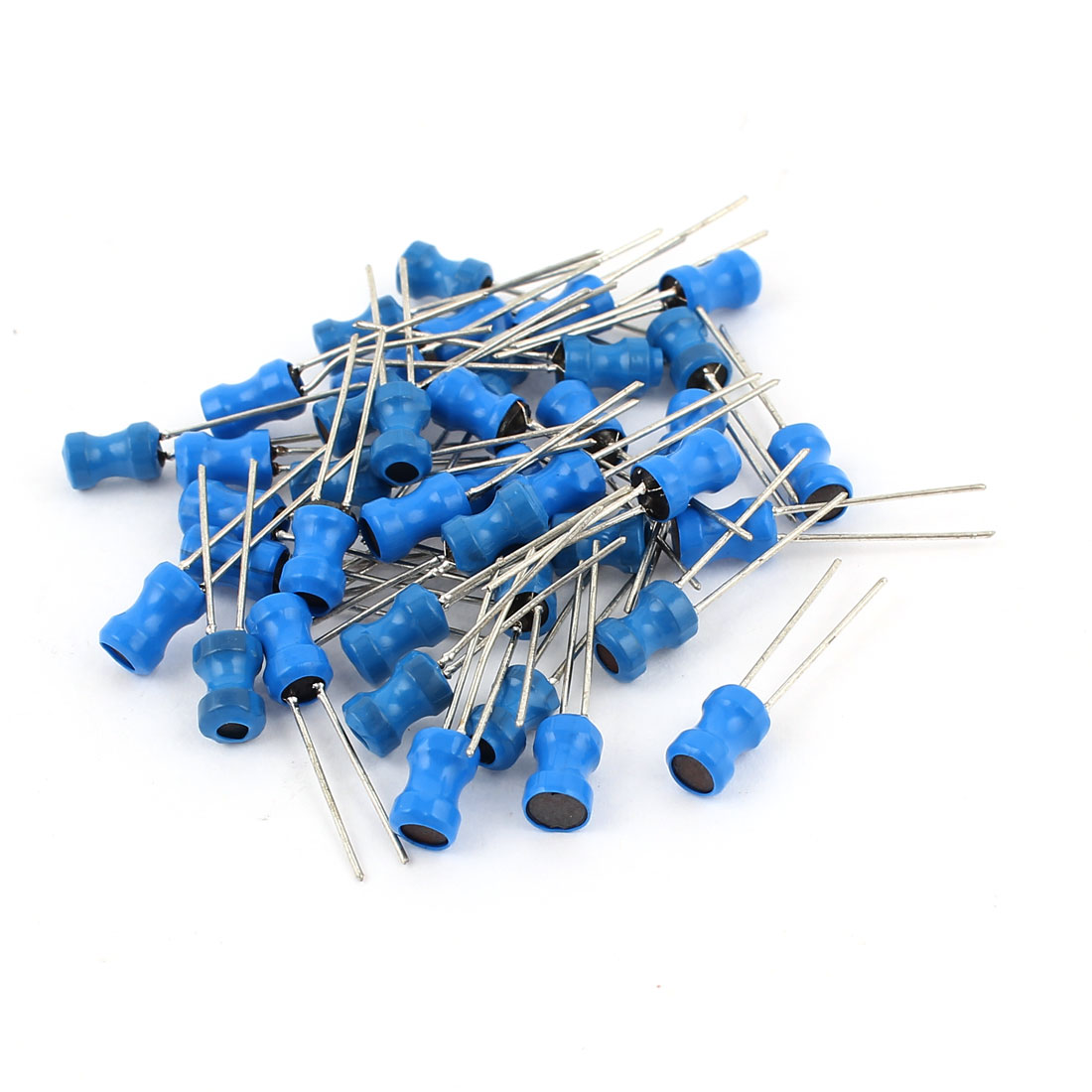 50Pcs 33uH 500mA 4x6mm 10% Tolerance Radial Lead Inductor Blue