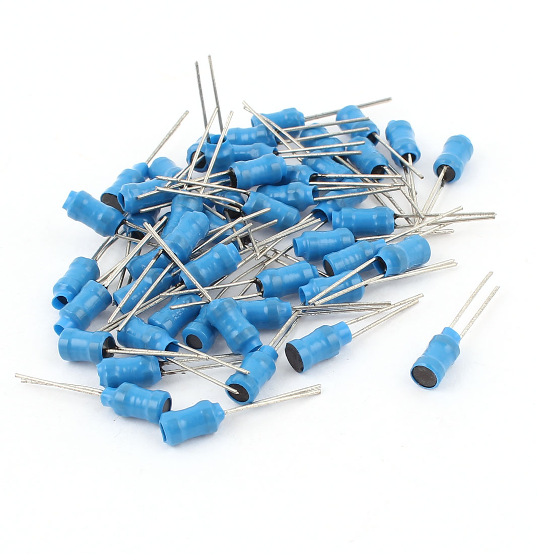 50Pcs 30mH 50mA 4x6mm 10% Tolerance Radial Lead Inductor Blue